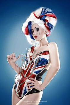Union Jack Girl by Miss Overdose