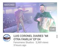 Go watch Luis Coronel Diaries ep4