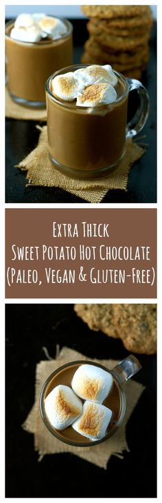 A collection of vegan recipes — (via Extra Thick Sweet Potato Hot Chocolate...