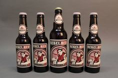 Rebel Red - Irish Craft Ale by Rory Martin, via Behance