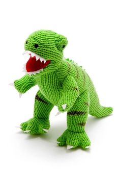 There is something oh-so-cute about our mini T-Rex rattle. It's also super practical as it is machine washable! A popular dinosaur soft toy rattle for babies and not suprisingly. Check out his other dinosaur friends. Die Dinos Baby, Baby Dinosaurs, Dinosaur Toys, Dinosaur Stuffed Animal, Dinosaur Cards, Crochet Dinosaur, Stuffed Animals, Newborn Baby Gifts, Baby Boy Gifts