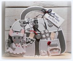 Craft stencil - Bag by Marleen Pop Up Cards, Love Cards, Marianne Design Cards, Craft Projects, Projects To Try, Paper Purse, Stencil Designs, Diy Garden Decor, Baby Cards