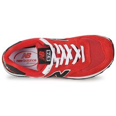 New Balance 574 Women's Red Black Ml574  Delivery Mode:Free Shipping Return Policy:60 Days Free Returns