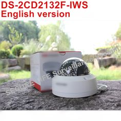 122.00$  Watch here - http://alifkv.worldwells.pw/go.php?t=32784059562 - DHL free shipping English version DS-2CD2132F-IWS 3MP wireless CCTV camera POE, mini wifi dome IP security camera H.264
