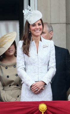 Kate Middleton: Catherine, Duchess of Cambridge on the balcony during during Trooping the Colour - Queen Elizabeth II's Birthday Parade, at The Royal Horseguards on June 14, 2014 in London, England.