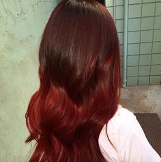 Red Balayage ombré  by Tenae