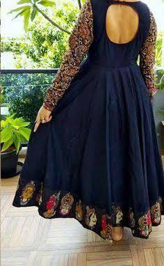 Long Dress Design, Dress Neck Designs, Blouse Designs, Indian Designer Outfits, Designer Dresses, Designer Kurtis, Dress Paterns, Frock Models, Long Gown Dress