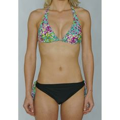 Island Love Womens Green Digital Bikini