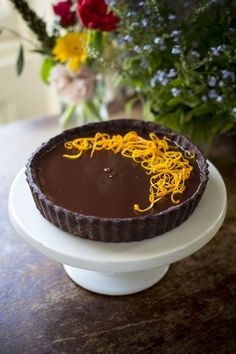Chocolate Orange Tart | DonalSkehan.com, Delicious grown-up dessert.