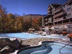 Stowe Mountain Lodge  Stowe, Vermont - pool looks amazing for an ACTIVE 6-year old!