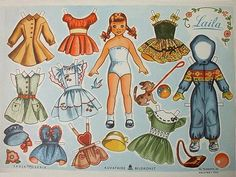 Printable Vintage Paper Doll | Paper dolls