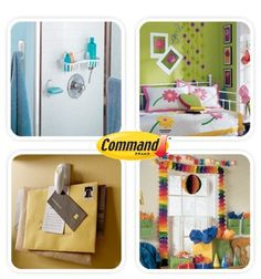 Los productos Command te ayudan a organizar cualquier lugar de tu casa de forma practica sin la necesidad de usar clavos.