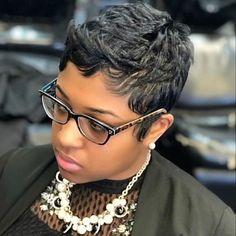 Hot Short Hair Ideas for Black Women 2021 – The Style News Network Black Women Short Hairstyles, Short Pixie Haircuts, Cute Hairstyles For Short Hair, Short Curly Hair, Pixie Hairstyles, Short Hair Cuts, Curly Hair Styles, Natural Hair Styles, Pixie Cuts