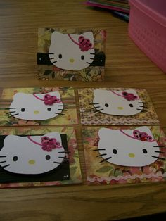Hello Kitty Handmade Cards by CardsOnTheFly on Etsy, $13.00