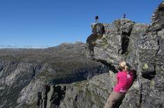 Photo shoot at Preikestolen (Hardanger version!) near Trolltunga, Norway.