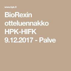 BioRexin otteluennakko HPK-HIFK 9.12.2017 - Palve
