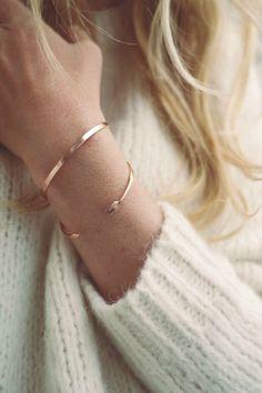 delicate gold bangles