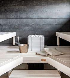 Read the webpage click the grey tab for extra options : clearlight infrared sauna Modern Saunas, Electric Sauna Heater, Sauna Steam Room, Sauna Design, Finnish Sauna, Spa Rooms, Infrared Sauna, Laundry In Bathroom, Black Walls