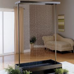 The Indoor Rain Waterfall Sounds Like A Great Idea To Add That White Noise In A Home Love This Idea