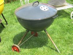 Very early Weber Bros. Weber Kettle, Weber Grill, Cast Iron Dutch Oven, Cast Iron Skillet, Barbecues, Charcoal Grill, Grills, 1950s, Metal