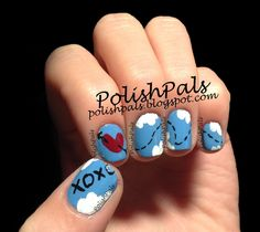 Super cute nail art idea for Valentine's Day :) <3 XOXO