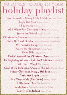Our holiday playlist that never goes out of style. #holiday #glitterguide