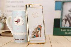 Luxuriöse Diamanten verzierte transparente TPU Handyhülle für iPhone 6/6 Plus - spitzekarte.com