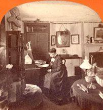 Louisa May Alcott at her desk