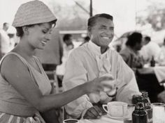 "Sophia Loren & Cary Grant during the filming of, ""Houseboat"" (1958)."