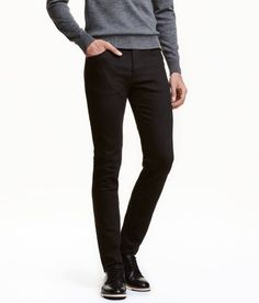 Slim Low Jeans | Black | Men | H&M US
