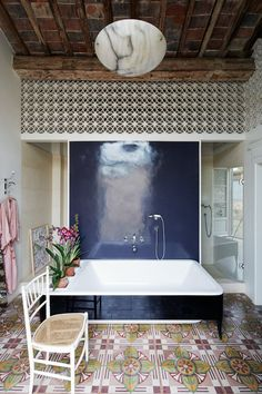 Ceramic Granite Beautiful Wall Design And Modern Flooring . Gorgeous Tile And Wood Plank Design Flooring Stone . Home Design Ideas Modern Floor Tiles, Modern Flooring, Tile Floor, Bathroom Interior, Modern Bathroom, Modern Wall, Wall Tiles Design, Bohemian House, Tuscan Style
