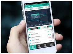 SEO Monitoring Mobile App - Mobile Interface on Creattica: Your source for design inspiration