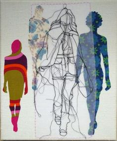 Catwalk Psychedelic by Rosie James Textiles Sketchbook, Gcse Art Sketchbook, Fashion Sketchbook, Rosie James, Stitch Drawing, Hand Embroidery Art, A Level Art, Fashion Design Sketches, Textile Artists