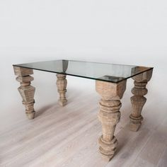 Eco First Art STO 18 Table - why couldn't one make this table with balusters and a piece of plate glass?