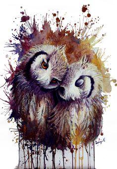 Owls v2 by Sunima.deviantart.com on @DeviantArt