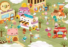 Art by Silvia Portella - I love her cute characters!!
