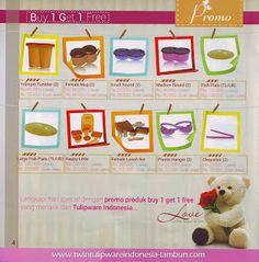 Promo Buy 1 Get 1 Free Tulipware   Januari - Februari 2014