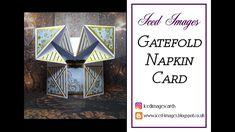 Fun Fold Cards, Folded Cards, Napkin Cards, Ice Images, Pop Up Box Cards, Napkin Folding, Card Tutorials, Napkins, Boxes