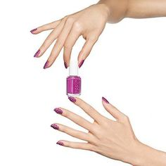 polka-dot+print+by+essie - white+polka-dotted+nail+art+against+a+plum+base+is+the+chicest+accessory.+