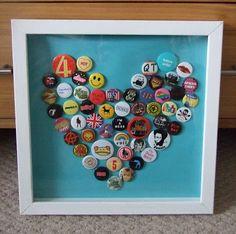 Faith Hope and Charity Shopping: Ta-dah! Tuesday - Badge Heart Art