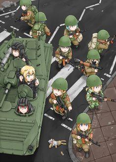 BMP1P + motostrelki