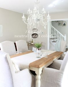 Our Neutral Paint Palette  Sherwin Williams accessible beige; rhinestone; zurich white; knitting needles