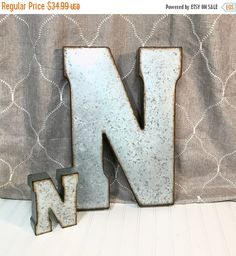 Letter M Wall Decor large metal letter/20 inch metal letter/wall decor/letter m