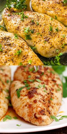 A simple, method for the most tender and juicy Baked Chicken Breasts ever! Ready in 25 minutes and so flavorful, this is the best baked chicken! Easy Chicken Recipes, Easy Dinner Recipes, Salmon Recipes, Chicken Tenderloin Recipes Healthy, Healthy Chicken Meals, Simple Food Recipes, Different Chicken Recipes, Homemade Chicken Soup, Party Dip Recipes