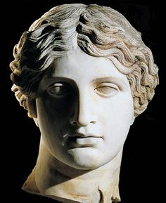 The eruption of Mount Vesuvius loosed a deadly pyroclastic surge on the wealthy seaside town of Herculaneum, burying everything in its path (a marble head of an Amazon recently unearthed at the Villa of the Papyrii) ~ Sculpted head, Marble, A.D. mid-1st century, Pompeii
