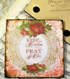 Coasters Keep Calm and Pray On Religious Christian by PrayerNotes, $18.00