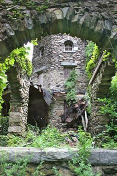Hearthstone Castle, Danbury, Ct. Although the park that the city built on the property is open to the public everyday from sunrise to sunset, the castle itself is fenced off due to it's state of decay.