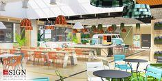 Autoservire 2 – proiect de design interior in stil modern - Studio inSIGN Restaurants, Interior Design, Studio, Modern, Projects, Nest Design, Log Projects, Study, Trendy Tree