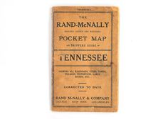 1911 Rand-McNally County and Railroad Pocket Map of Tennessee State Of Tennessee, Rivers, Booklet, Lakes, Nashville, Cities, Chicago, York, History