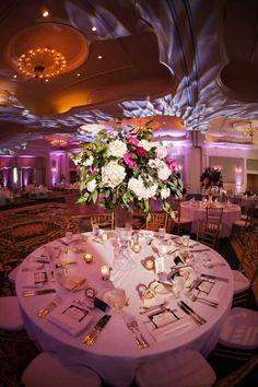 Floral Centerpieces by FH Weddings and Events-Loews Portofino Bay Hotel Wedding-Tuscan Wedding-Orlando Wedding Venue-Photo: Limelight Photography-Central Florida Wedding Blog-Orange Blossom Bride-www.orangeblossombride.com